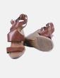 Sandalia marrón cuña Zara