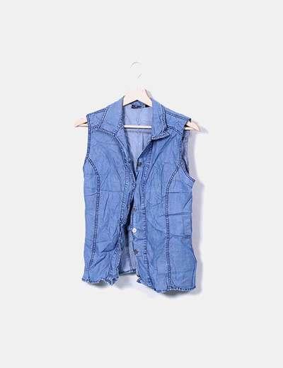 NoName Blaues Jeanshemd ohne Ärmel (Rabatt 81 %) - Micolet 1be31e1319