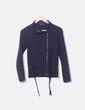 Jersey tricot azul marino con cremallera Adolfo Dominguez