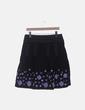 Falda negra detalle morado Promod
