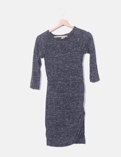 Vestido gris marengo jaspeado