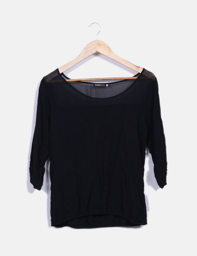 Blusa negra Shana