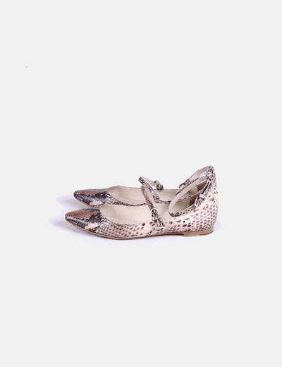Zapato plano serpiernte Massimo Dutti