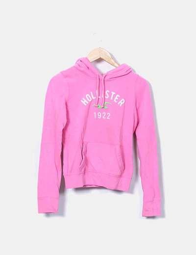 revisa d17f4 1d785 Sudadera rosa print logo