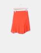 Falda midi naranja Zara