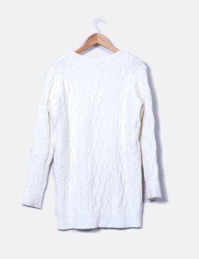 Jersey de punto blanco