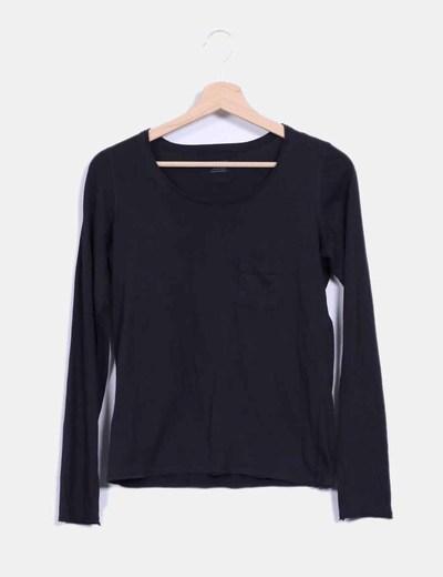 Camiseta negra de manga larga  Kookaï