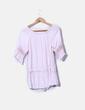 Blusa rosa detalle crochet NoName