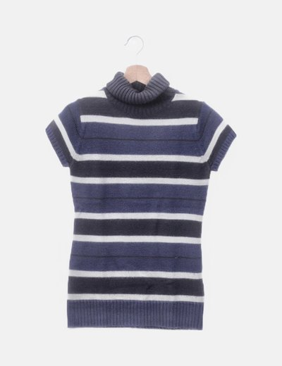 Top tricot de rayas manga corta