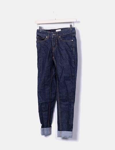 Pantalon couleur foncée denim Eleven Paris