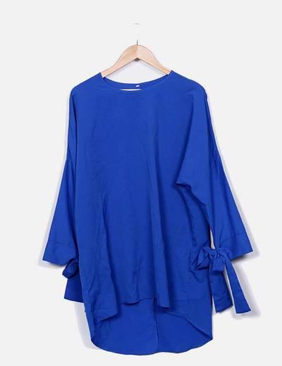Vestido fluido azul NoName