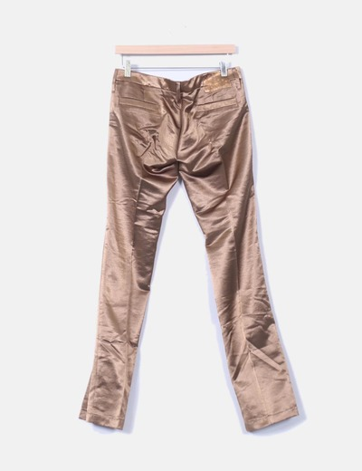 Pantalon color cobre satinado