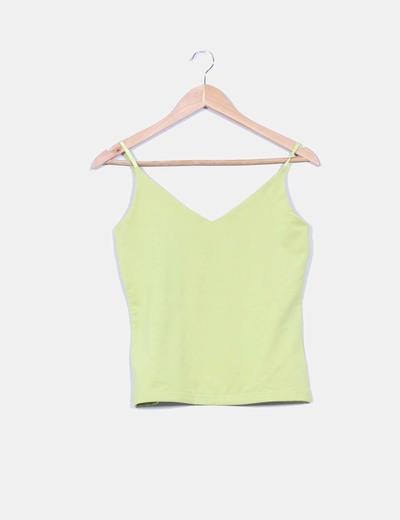 Camiseta pistacho básica Pepercorn