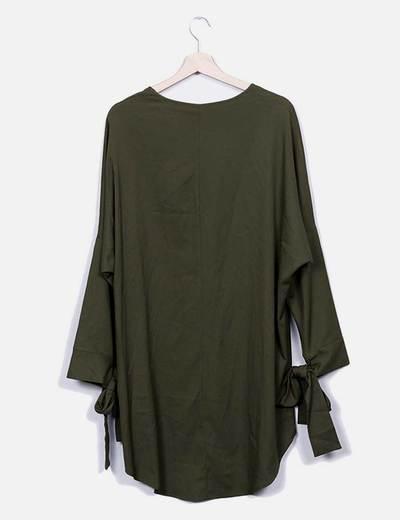 Vestido midi verde fluido