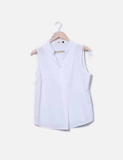 Blouse blanche à manches the first