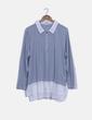 Blusa bicolor con detalle cremallera Venca