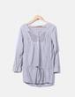 Blusa gris rayas Zara