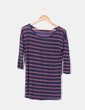Camiseta azul marino de rayas NoName