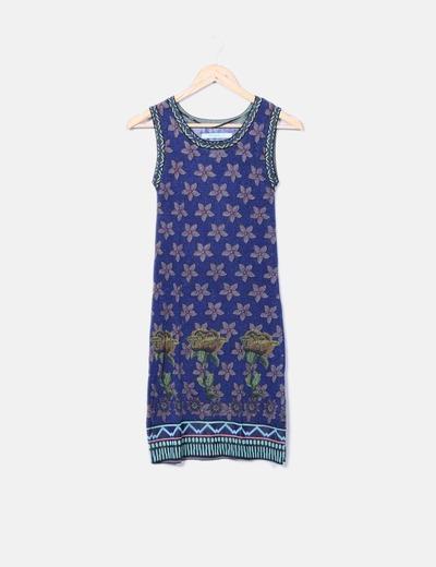 Robe en tricot imprimé brillant Desigual