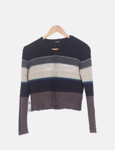 Jersey lana multicolor manga larga