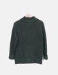 Jersey punto verde glitter H&M
