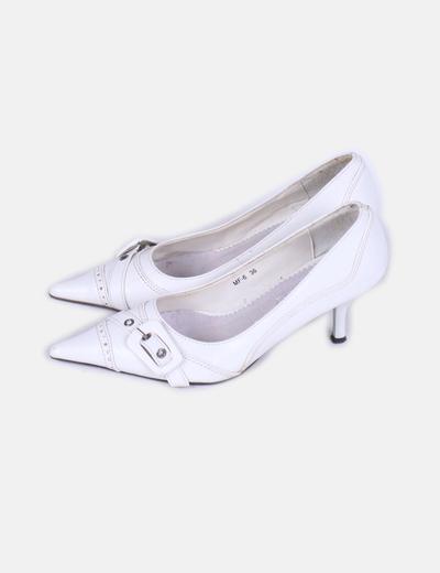 Zapato blanco con puntera Revers