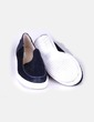 Zapato plano texturizado azul marino Zara