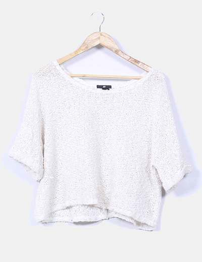 Jersey beige de punto texturizado H&M