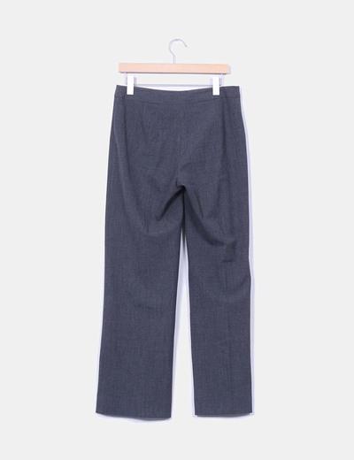Pantalon sarga gris jaspeado