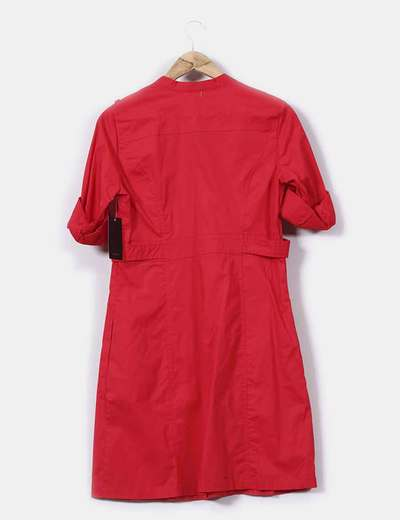 Vestido Mango Vestido Camisero Camisero Rojo 5w5ZqY4