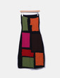 Tricô palavra multicolorida malha vestido Amaya Arzuaga