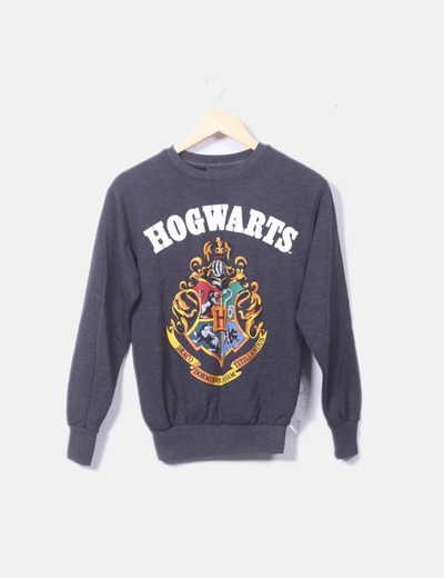 Sudadera gris print Harry Potter