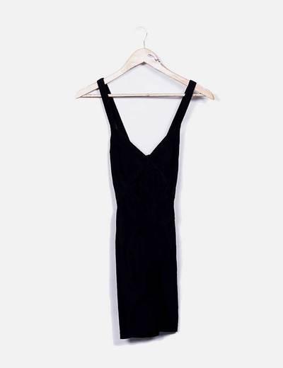 Vestido negro bandage NoName