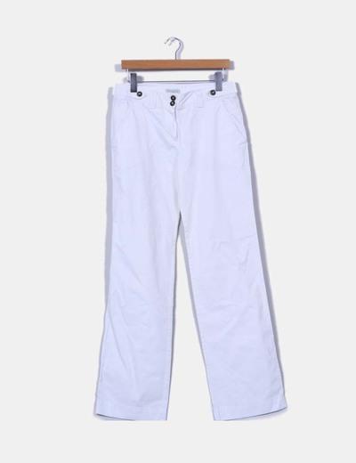 Pantalón chino blanco Massimo Dutti