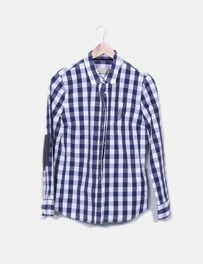Camisa de cuadros bicolor Pedro del Hierro
