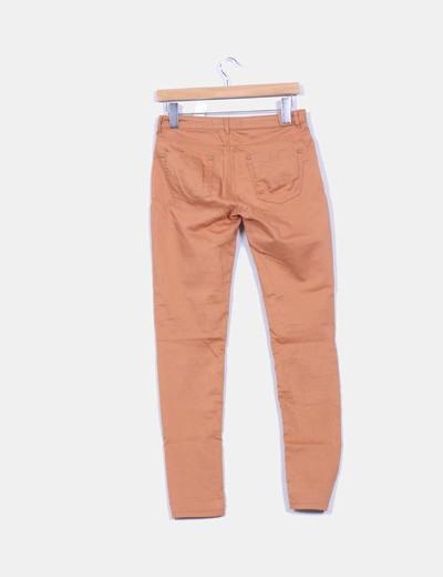 Pantalon elastico camel