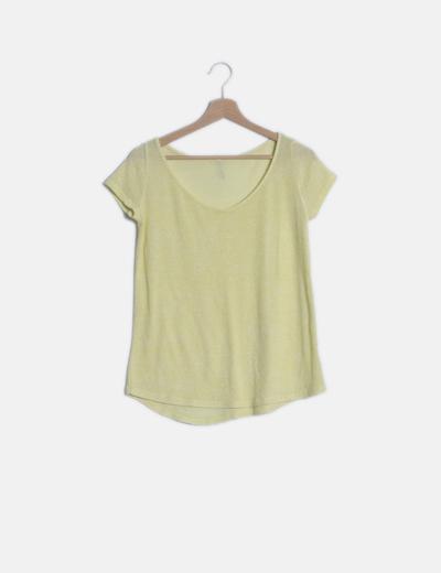 Camiseta amarilla jaspeada