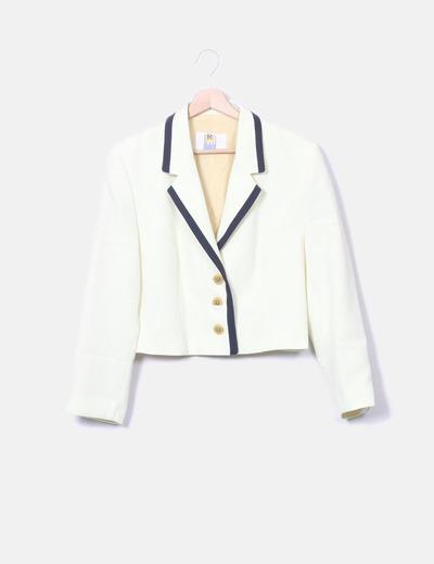 Conjunto de blazer y falda amarillo
