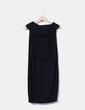 Vestido de punto negro manga sisa Hoss Intropia