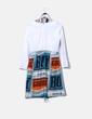 Vestido crudo combinado vintage Amatrichi