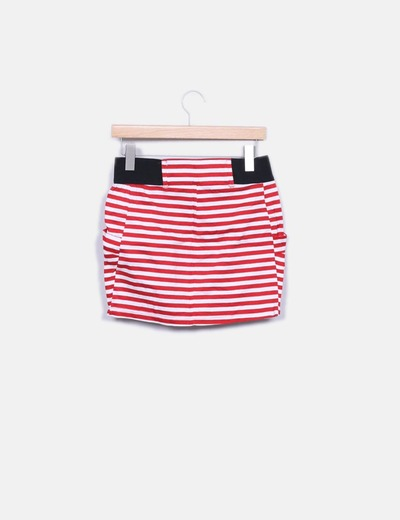 Minifalda de rayas