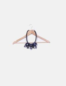 1870a512373c Collar flores azul marino Viviana moda