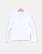 Camisa blanca estampado rayas finas Tex Woman