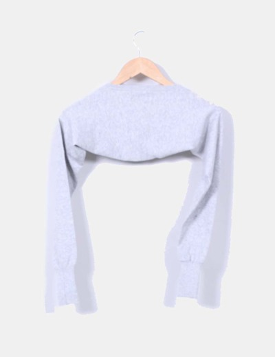 Bolero tricot gris