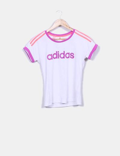 T-shirt blanc de sport Adidas