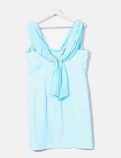 Vestido fiesta azul turquesa