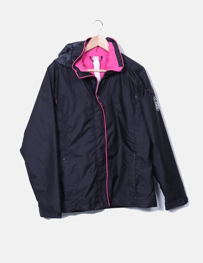 Parka negra impermeable Decathlon