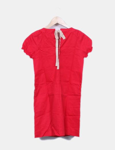 Vestido pichi rojo con collar