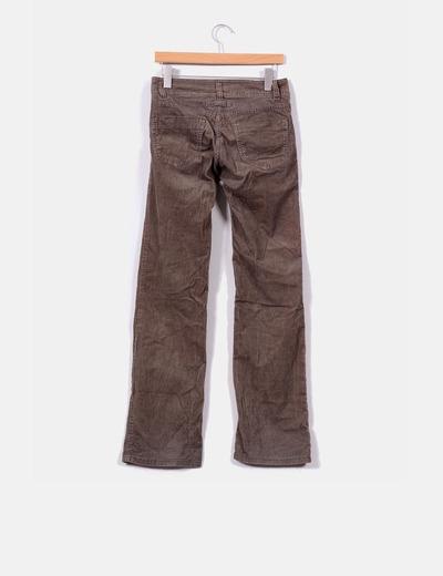 Pantalon khaki de pana bootcut