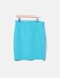 Falda azul turquesa texturizada NoName